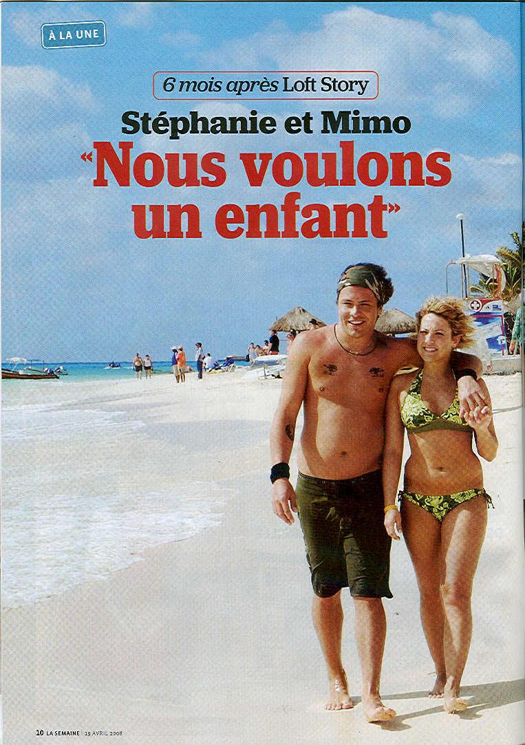 Yannick et Stéphanie sur la plage de Playa del Carmen