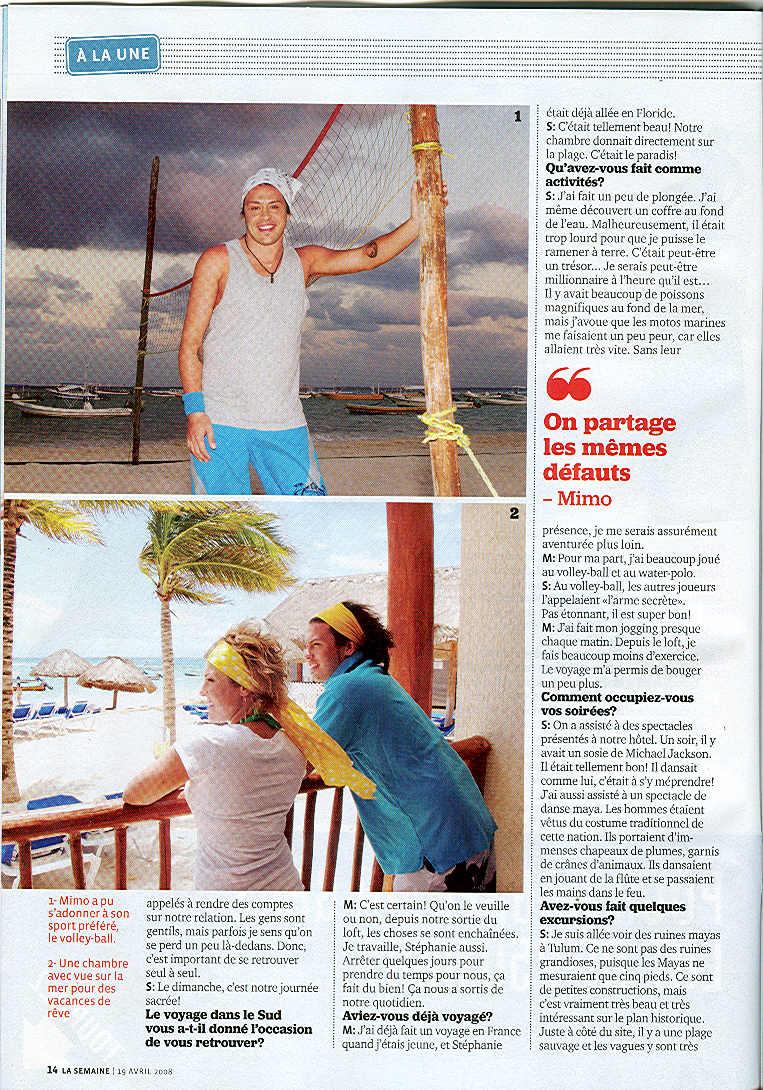 Yannick et Stéphanie se la pètent dans leur hôtel de Playa del Carmen